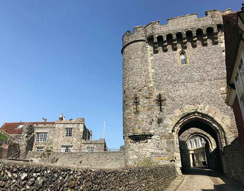 Barbacana del castillo de Lewes