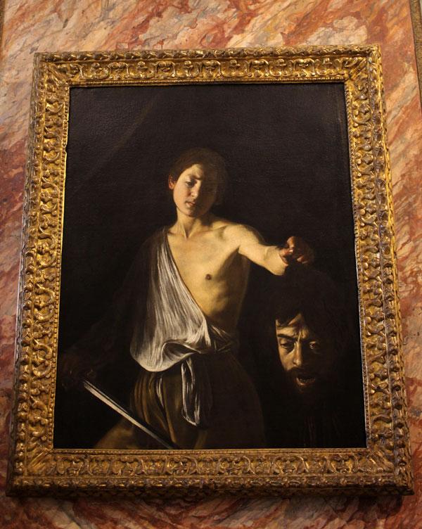 Caravaggio, David con la cabeza de Goliat
