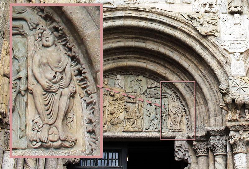La Adultera es la curiosidad más curiosa de todas las curiosidades de la Catedral de Santiago de Compostela