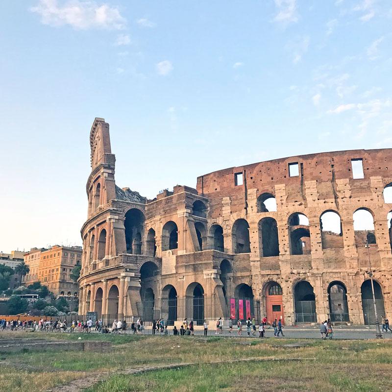 Exterior del Coliseo romano