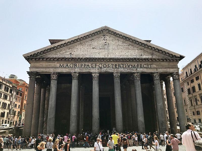 Panteón de Agripa, fachada principal