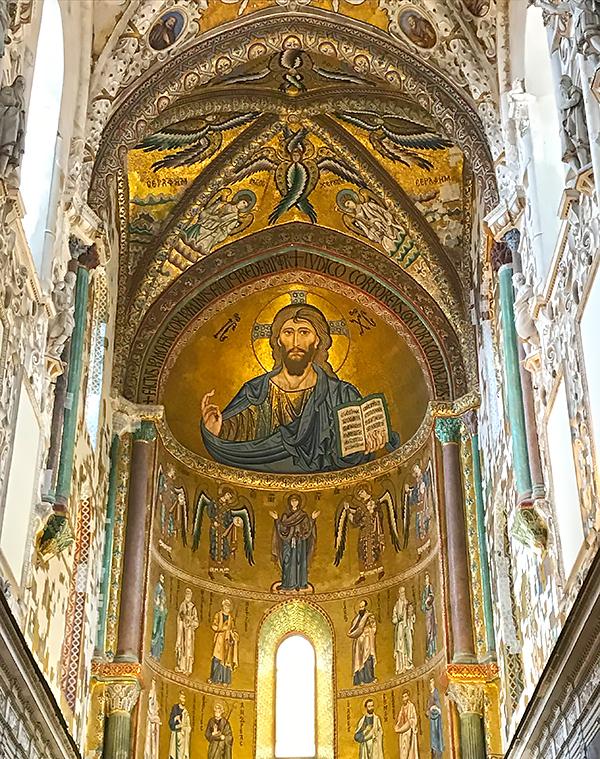 Pantocrator en la ruta por el Palermo árabe-normando y las catedrales de Cefalú y Monreale.