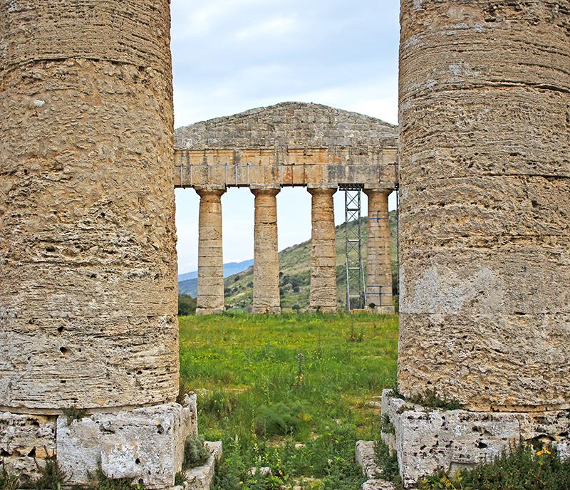 Detalle de las columnas del templo