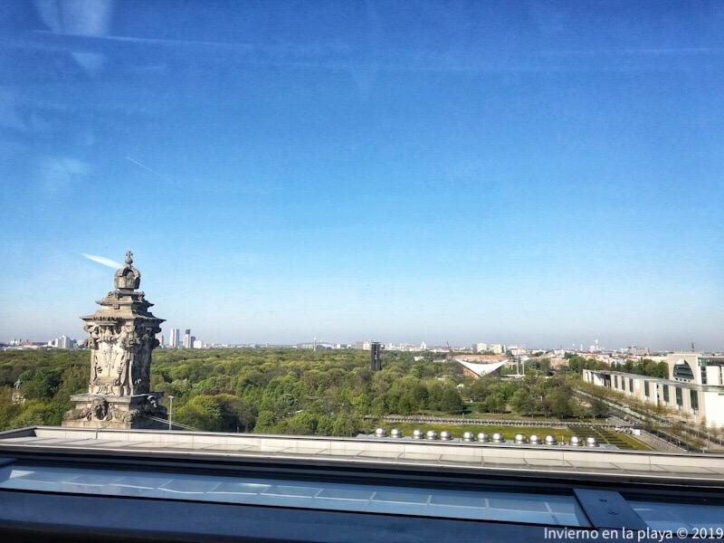 Vistas del Parque Tiergarten desde la cúpula