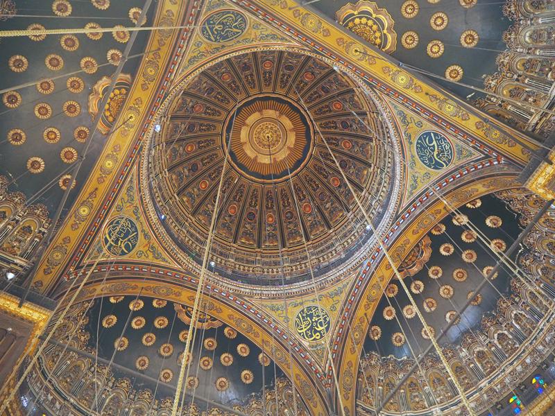 Interior de la Mezquita de Alabastro.