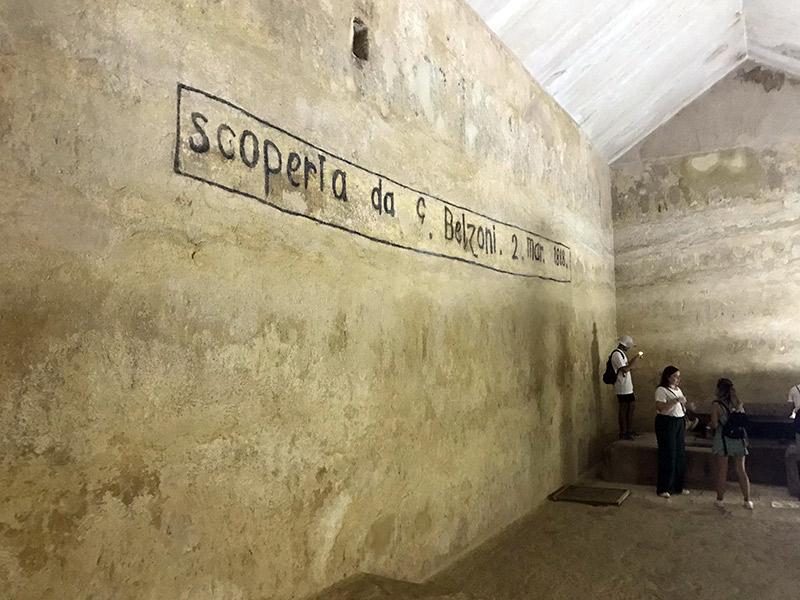 Interior de la pirámide de Kefren.