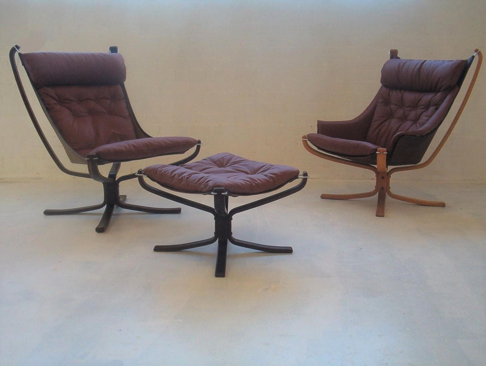 Falcon Chair Falcon Chair Leather Vatne Mobler Rosewood Vintage Danish Inspired