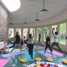 Yoga class, Edinburgh