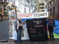 Anonymous & Occupiers say NO to Monsanto - @AussieActivist