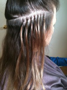 extension hair invisible strand hair weave