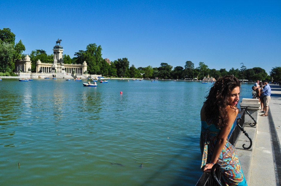 Boating lake El Retiro