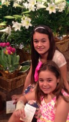 Madi and sister, Easter