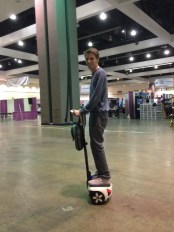 On scooter at Abilites Expo