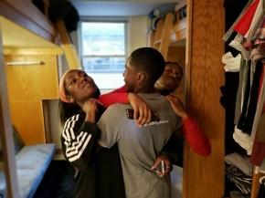 Move in Day Bradley University 8-18-18 (pic 3) - Sisters saying goodbye