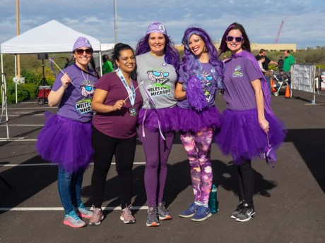 Michele and friends at a Miles for Migraine race in Phoenix, Arizona
