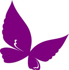A purple butterfly image representing fibromyalgia.