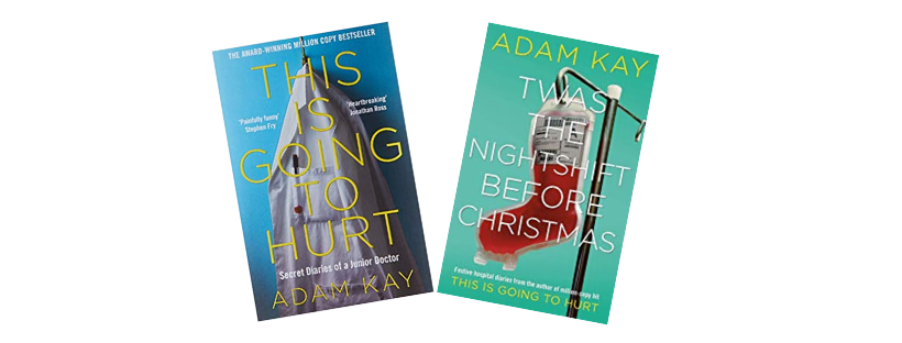 An image of both Adam Kay books.