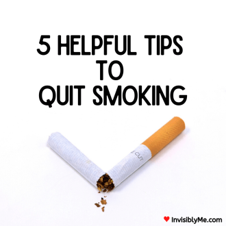 A photo of a cigarette broken in half. The background is totally white and the post title is above in black text.