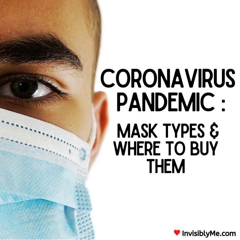 Coronavirus Pandemic : Face Mask Types & Where To Buy Them