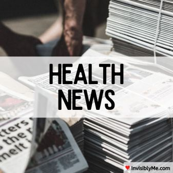 Stacks of newspapers outside. Overlaid across the centre of the image is 'Health News'.