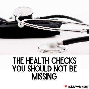 """A stethoscope is above. Underneath is the blog post title : """"The health checks you should not be missing""""."""