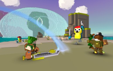 TROVE_ACT_Adventurer_BowSwordCombo_VsPirateParrot_01