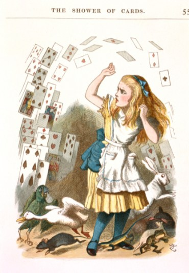 The 1890 edition of The Nursery Alice by Lewis Carroll with illustrations by John Tenniel (c) British Library Board