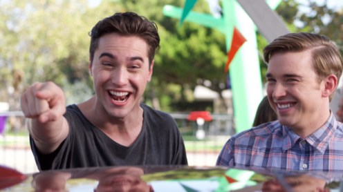 STANDOFF#51 - Ryan McCartan and Chandler Massey - Farrell (Ryan McCartan) and Chris (Chandler Massey) are all smiles as the contest begins.