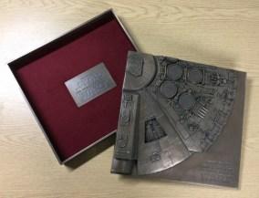 Bronze cast case for autograph book