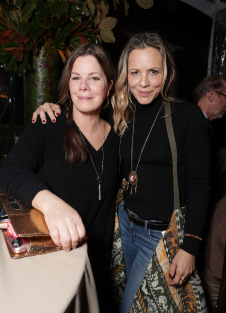 "Marcia Gay Harden and Maria Bello seen at Netflix's original documentary ""13TH"" reception hosted by Netflix Chief Content Officer Ted Sarandos and Ambassador Nicole Avant with a special conversation moderated by Oprah Winfrey with director Ava DuVernay and Van Jones] on Sunday, January 15, 2017, in Los Angeles, CA. (Photo by Eric Charbonneau/Invision for Netflix/AP Images)"