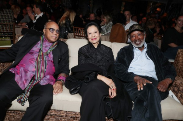 """Quincy Jones, Jacqueline Avant and Clarence Avant seen at Netflix's original documentary """"13TH"""" reception hosted by Netflix Chief Content Officer Ted Sarandos and Ambassador Nicole Avant with a special conversation moderated by Oprah Winfrey with director Ava DuVernay and Van Jones] on Sunday, January 15, 2017, in Los Angeles, CA. (Photo by Eric Charbonneau/Invision for Netflix/AP Images)"""