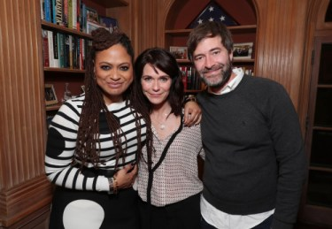 "Ava DuVernay, Katie Aselton and Mark Duplass seen at Netflix's original documentary ""13TH"" reception hosted by Netflix Chief Content Officer Ted Sarandos and Ambassador Nicole Avant with a special conversation moderated by Oprah Winfrey with director Ava DuVernay and Van Jones] on Sunday, January 15, 2017, in Los Angeles, CA. (Photo by Eric Charbonneau/Invision for Netflix/AP Images)"