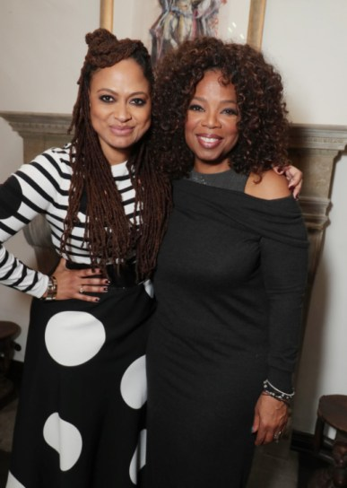 "Ava DuVernay and Oprah Winfrey seen at Netflix's original documentary ""13TH"" reception hosted by Netflix Chief Content Officer Ted Sarandos and Ambassador Nicole Avant with a special conversation moderated by Oprah Winfrey with director Ava DuVernay and Van Jones] on Sunday, January 15, 2017, in Los Angeles, CA. (Photo by Eric Charbonneau/Invision for Netflix/AP Images)"