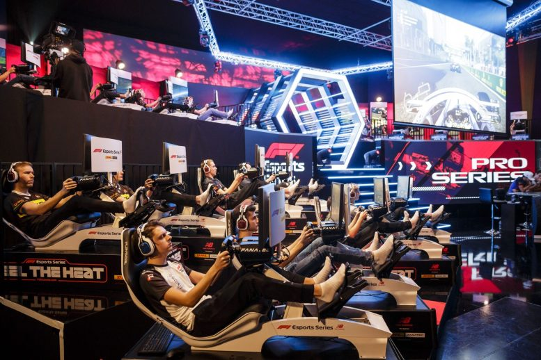 Esports drivers compete in the F1 New Balance Esports Series at GFinity Arena [4]