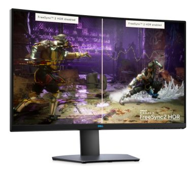 Dell 32 inch S3220DGF curved gaming monitor.