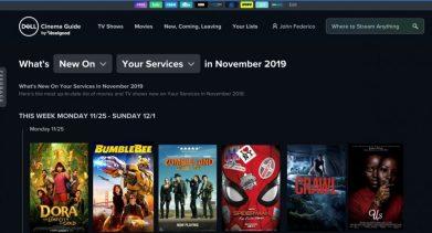 Dell Cinema Guide_UI 1