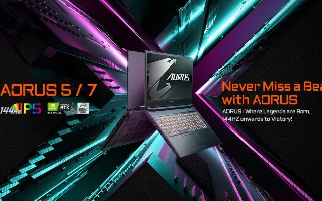 GIGABYTE AORUS 5 and 7 Gaming Laptops