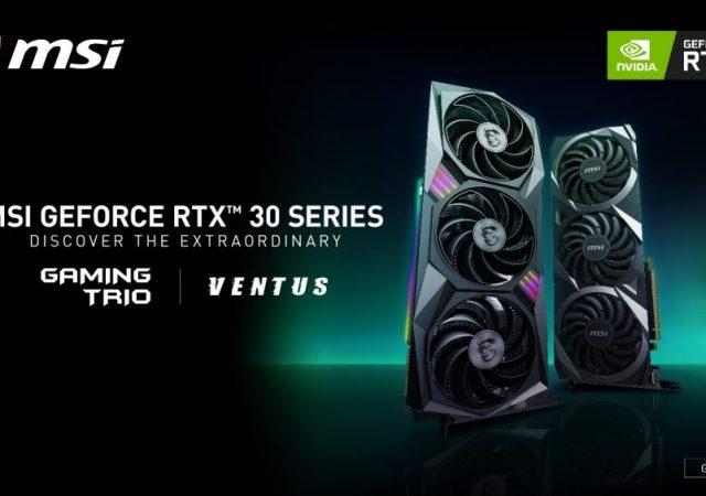 msi rtx 30 GPUs