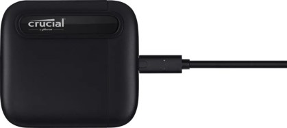 Crucial X6 Portable SSD Flat Front w_Cable Image