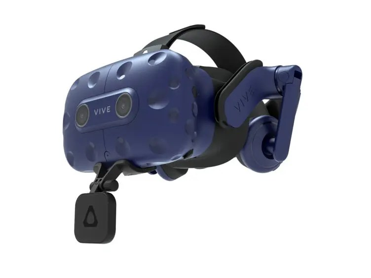 HTC VIVE Facial Tracker attached to HTC VIVE Pro