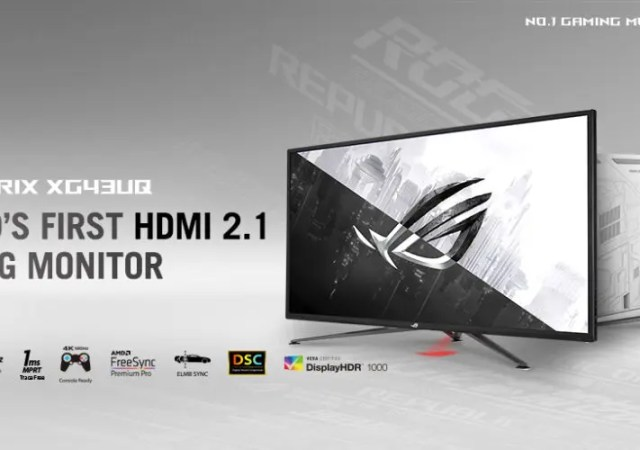 ASUS Republic of Gamers Announces Strix XG43UQ Monitor will be Available in May