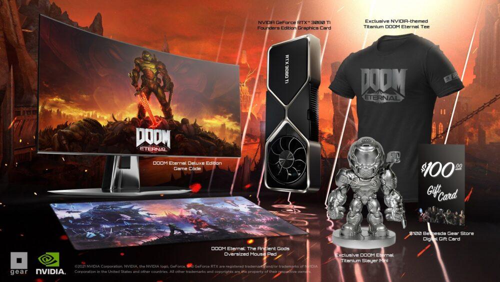DOOM Eternal GeForce RTX 3080 Ti Limited Edition Demon Slayer Bundle