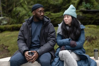 """Mahershala Ali and Awkwafina in """"Swan Song,"""" coming soon to Apple TV+. Courtesy of Apple"""