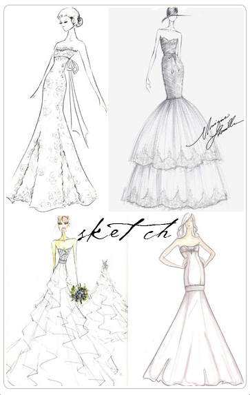 Wallpapers Collection: wedding dress designs sketches