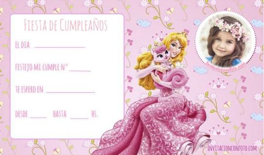 invitaaciones de  princesa para editar con foto
