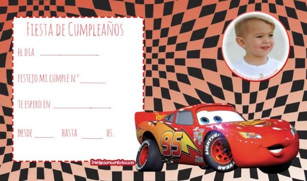 tarjetas cars cumpleanos