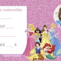 Invitacion de Cumpleanos de Princesas Disney con foto
