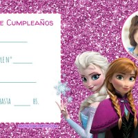 Invitaciones de Cumpleanos Elsa y Anna Frozen con Foto