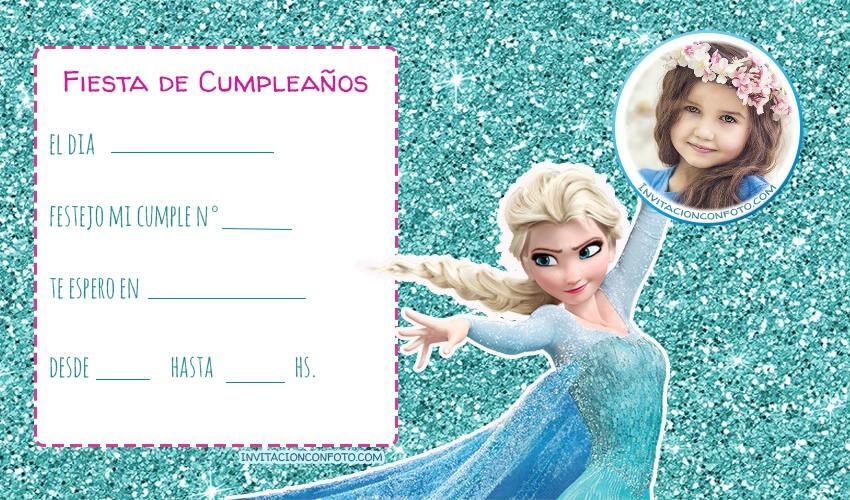 Tarjetas de cumpleanos de Elsa Frozen