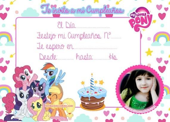 invitaciones infantiles con foto